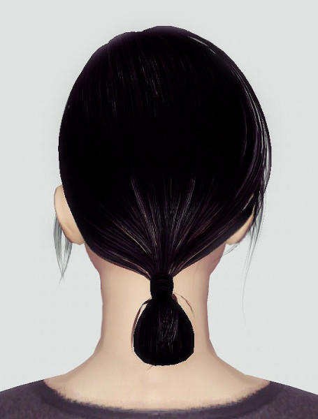 Small bun hairstyle retextrued by Momo for Sims 3