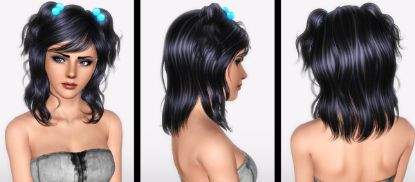 NewSea`s Chihuahua Medium lenght hairstyle retextured by Forever and Always for Sims 3