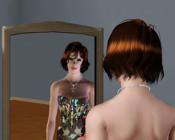 Anto 73 Boho hairstyle retextured by Savio for Sims 3