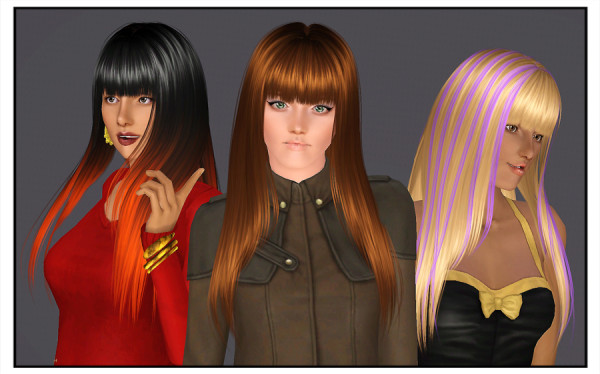 CoolSims Secret santa hairstyle retextured by Brad for Sims 3