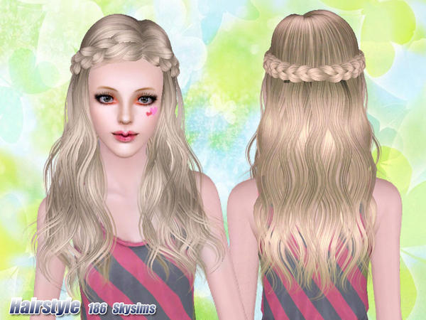 Terrific Braid Headband Hairstyle 186 By Skysims Sims 3 Hairs Short Hairstyles For Black Women Fulllsitofus