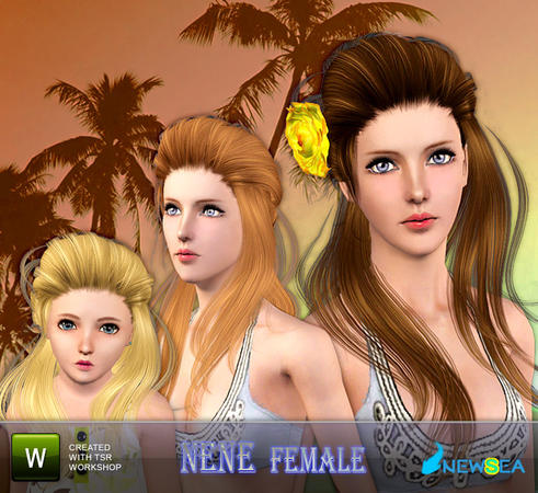 Rose Nene hairstyle by NewSea for Sims 3