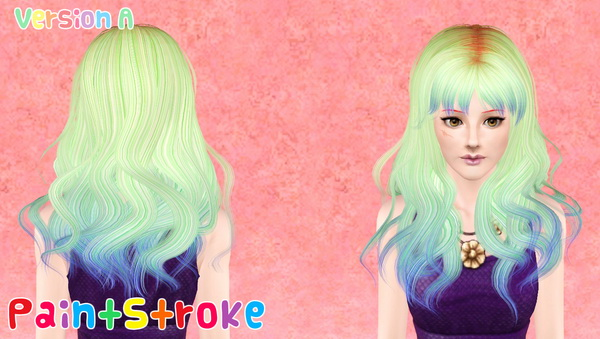 Chin length layers with bangs hairstyle NewSea`s Eva retextured by Katty for Sims 3