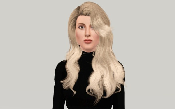 Huge scales hairstyle Cazys Artificial Love retextured by Fanaskher for Sims 3