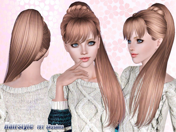 Marvelous Fancy Braid Ponytail Hairstyle 191 By Skysims Sims 3 Hairs Short Hairstyles For Black Women Fulllsitofus