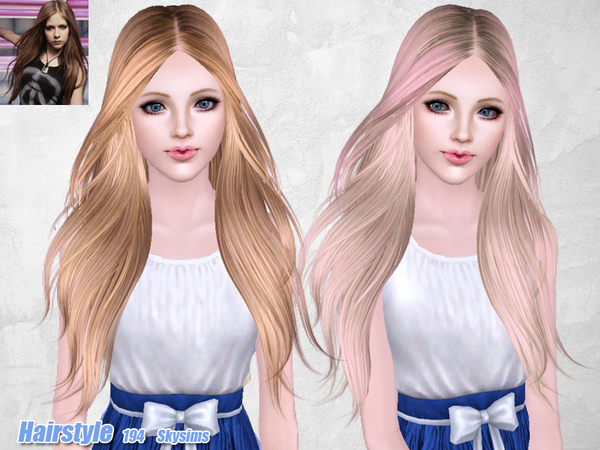 Middle Parth Hairstyle 194 By Skysims Sims 3 Hairs