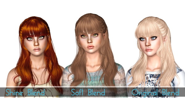 Newsea`s Rainbowgate hairstyle retextured by Sjoko for Sims 3
