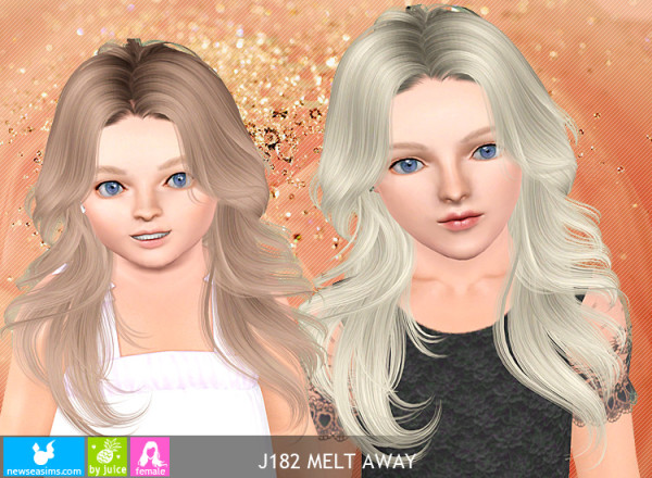 J182 Melt Away hairstyle by Newsea  for Sims 3