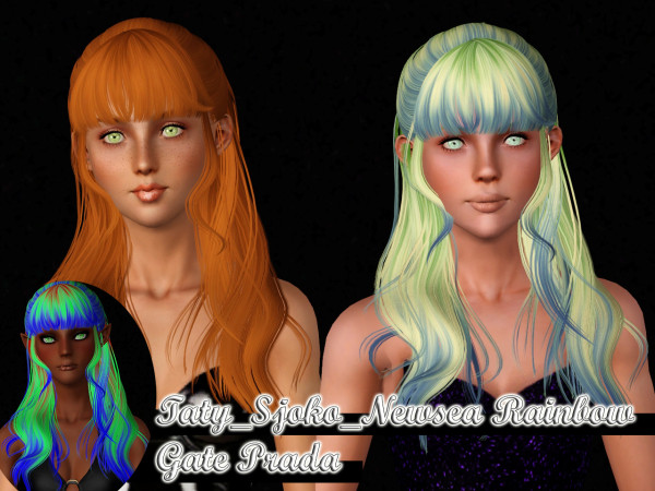 Hairstyles retextured by Taty for Sims 3