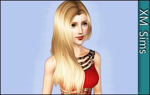 Long side hairstyle by XM Sims for Sims 3