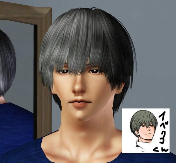 Iberico hairstyle by SimpleStudio for Sims 3