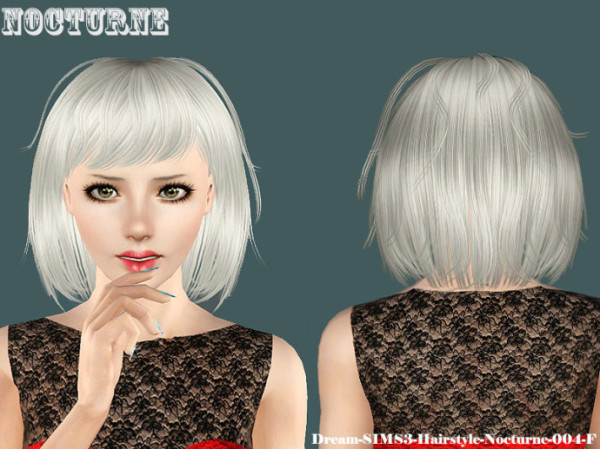 Nocturne hairstlye by Dream Sims 3 for Sims 3