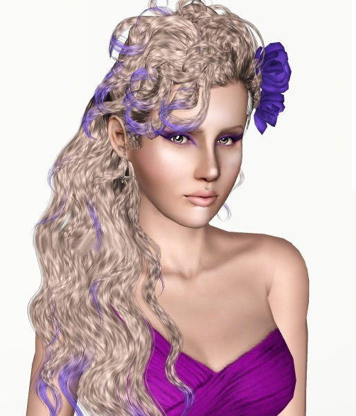Newsea Disco Heaven hairstyle retextured by White Crow for Sims 3