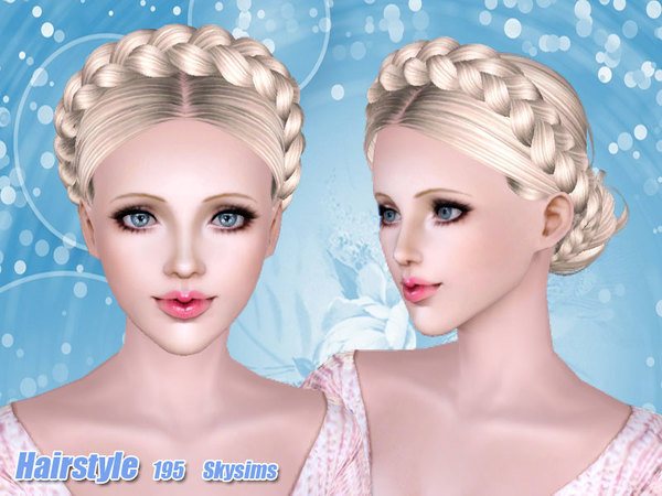 Strange Braided Crown Rusian Hairstyle 195 By Skysims Sims 3 Hairs Short Hairstyles For Black Women Fulllsitofus