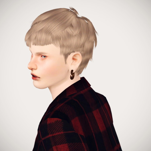 Silver jagged hairstyle by 2sanghaec for Sims 3