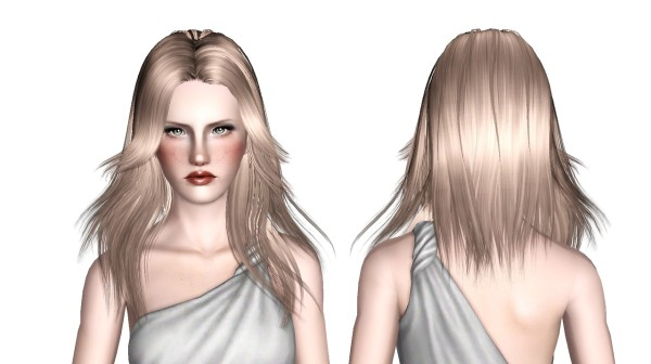 Butterfly  098 hairstyle retextured by White Crow for Sims 3