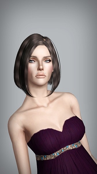 B fly hairstyle 124 retextured by White Crow for Sims 3