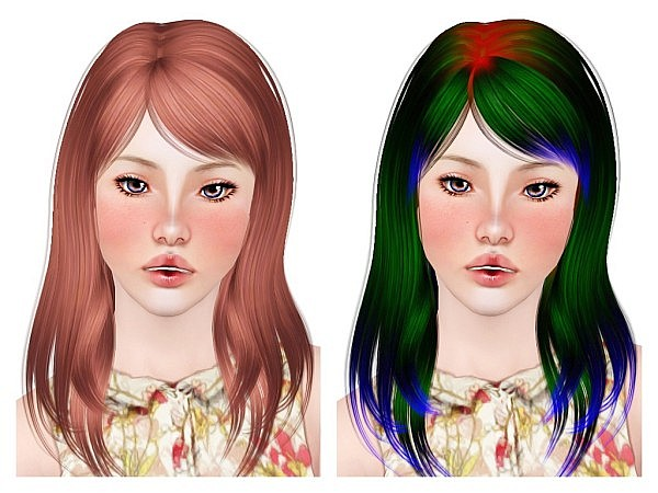 Alesso's Ana hairstyle retextured by Neiuro for Sims 3