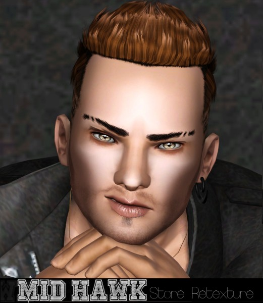 Ultra cool male hairstyle retextured by White Crow for Sims 3