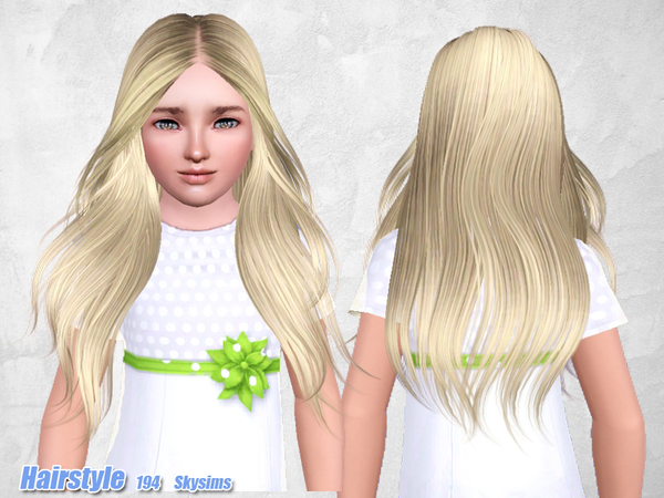 Middle parth hairstyle 194 by Skysims for Sims 3