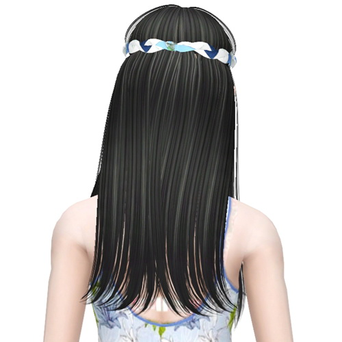 Hipie hairstyle Butterfly 105 retextured by Sjoko for Sims 3