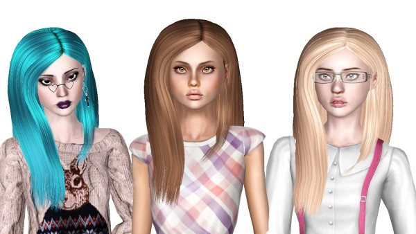 Nouks Girl Next Door hair retextured by Sjoko for Sims 3