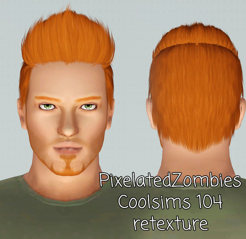 Coolsims 104 hairstyle retextured by Pixelated Zombies for Sims 3