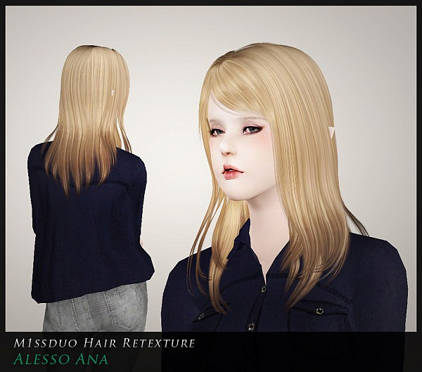 Newsea, Jeb, Peggy, Alesso, Zauma, HFO and Sintiklia hairstyles retextured by Duo for Sims 3