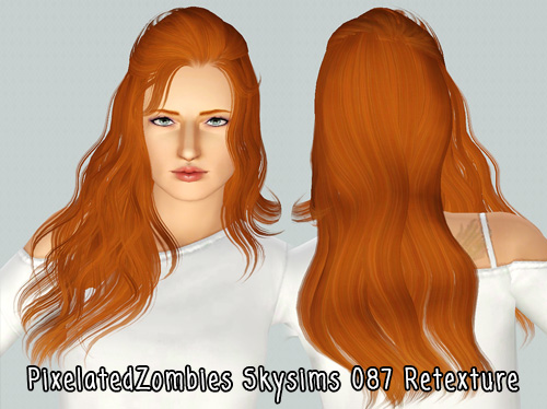 Skysims 087 hairstyle retextured by Pixelated Zombies for Sims 3