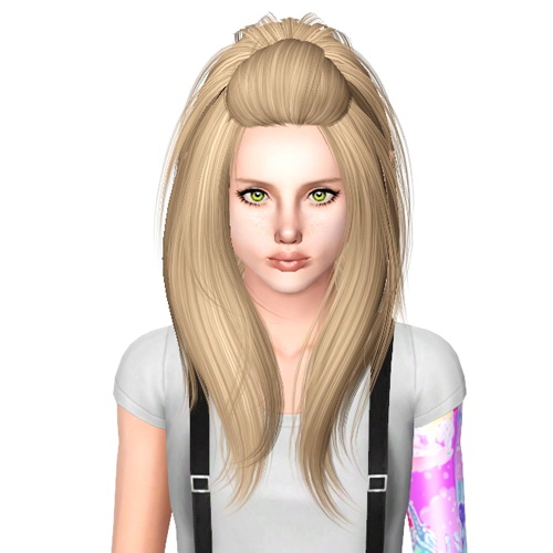 Peggy`s 0027 hairstyle retextured by Sjoko for Sims 3