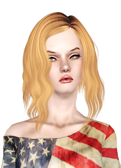 Alesso`s XO Assymetric waved bob hairstyle retextured by Jas for Sims 3