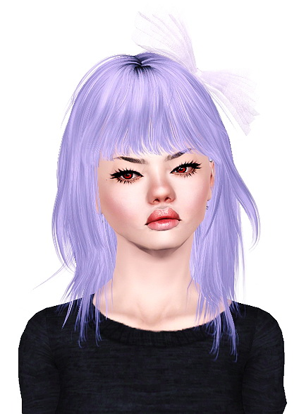 Skysims 054, Alesso Eve and Hourglass, Newsea Hideout Door hairstyle retextured by Jas for Sims 3