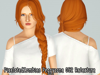 Peggy`s 052 hairstyle retextured by Pixelated Zombies for Sims 3