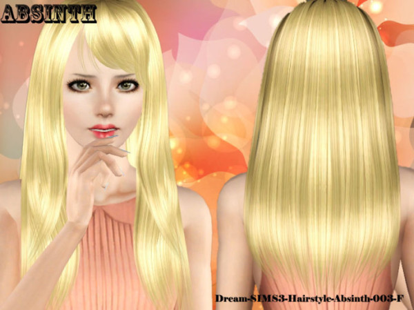 Absinth hairstyle by Dream Sims 3 for Sims 3