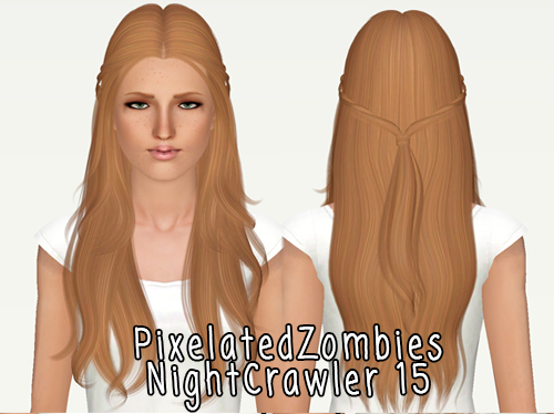NightCrawler`s hairstyle 15 retextured by Pixelated Zombies for Sims 3