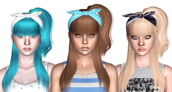 Zauma`s Ice cream hairstyle retextured by Sjoko for Sims 3