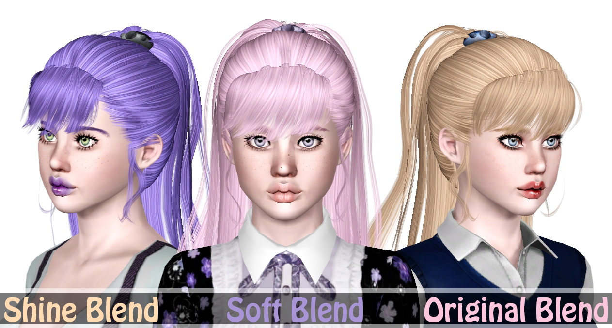 Newseas Gem Hairstyle Retextured By Sjoko Sims 3 Hairs