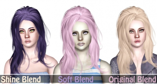 Newsea`s Sunshine teased hairstyle retextured by Sjoko for Sims 3