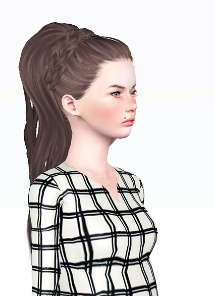 Braided headband hairstyle Skysims176 retextured by Jas for Sims 3