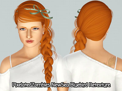 NewSea`s Bluebird hairstyle retextured by Pixelated Zombies for Sims 3
