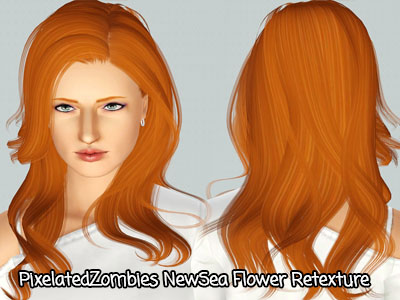 Naturally hairstyle NewSea `s Shaine retextured by Pixelated Zombies for Sims 3