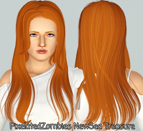 NewSea`s Treasure hairstyle retextured by Pixelated Zombies for Sims 3