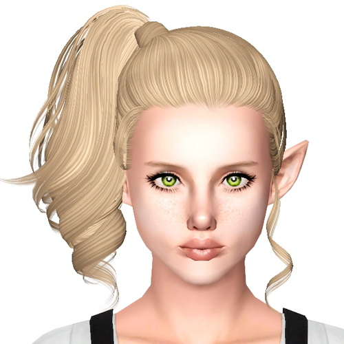 Side high ponytail hairstyle Skysims 153 retextured by