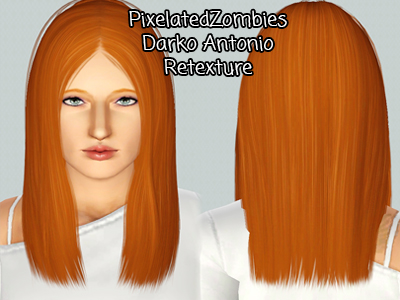 Darko Antonio hairstyle retextured by Pixelated Zombies for Sims 3