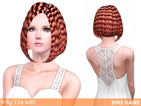 B fly hairstyles 124 curly edit by Sims Hairs for Sims 3