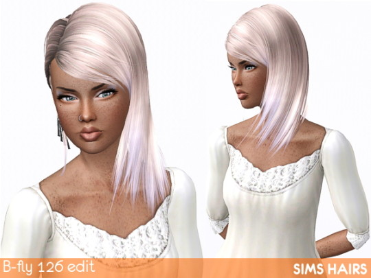 B-fly free hairstyle 126 edited by Sims Hairs
