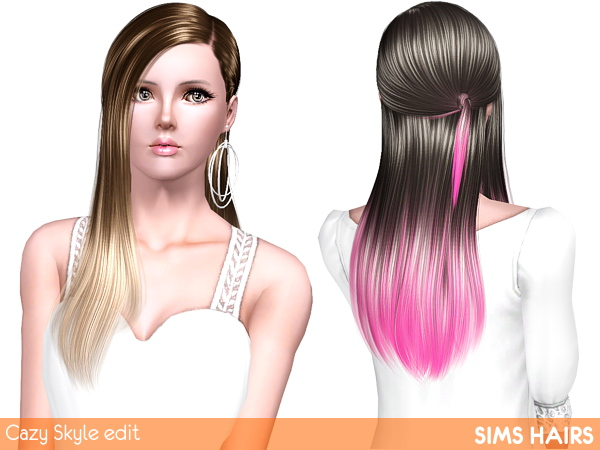 soccer hairstyles for girls : Cazys Skyle hairstyle shiny retexture by Sims Hairs for Sims 3