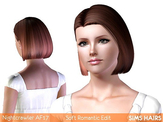 Nightcrawler's AF 17 bob hairstyle romantic edit by Sims Hairs
