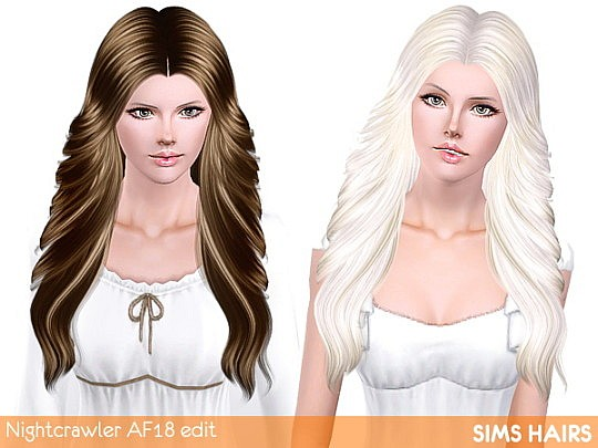 Soft shine retexture for Nightcrawler's AF 18 hairstyle by Sims Hairs