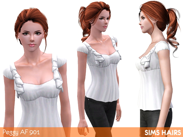 Peggys ponytail hairstyle 901 soft retexture by Sims Hairs for Sims 3